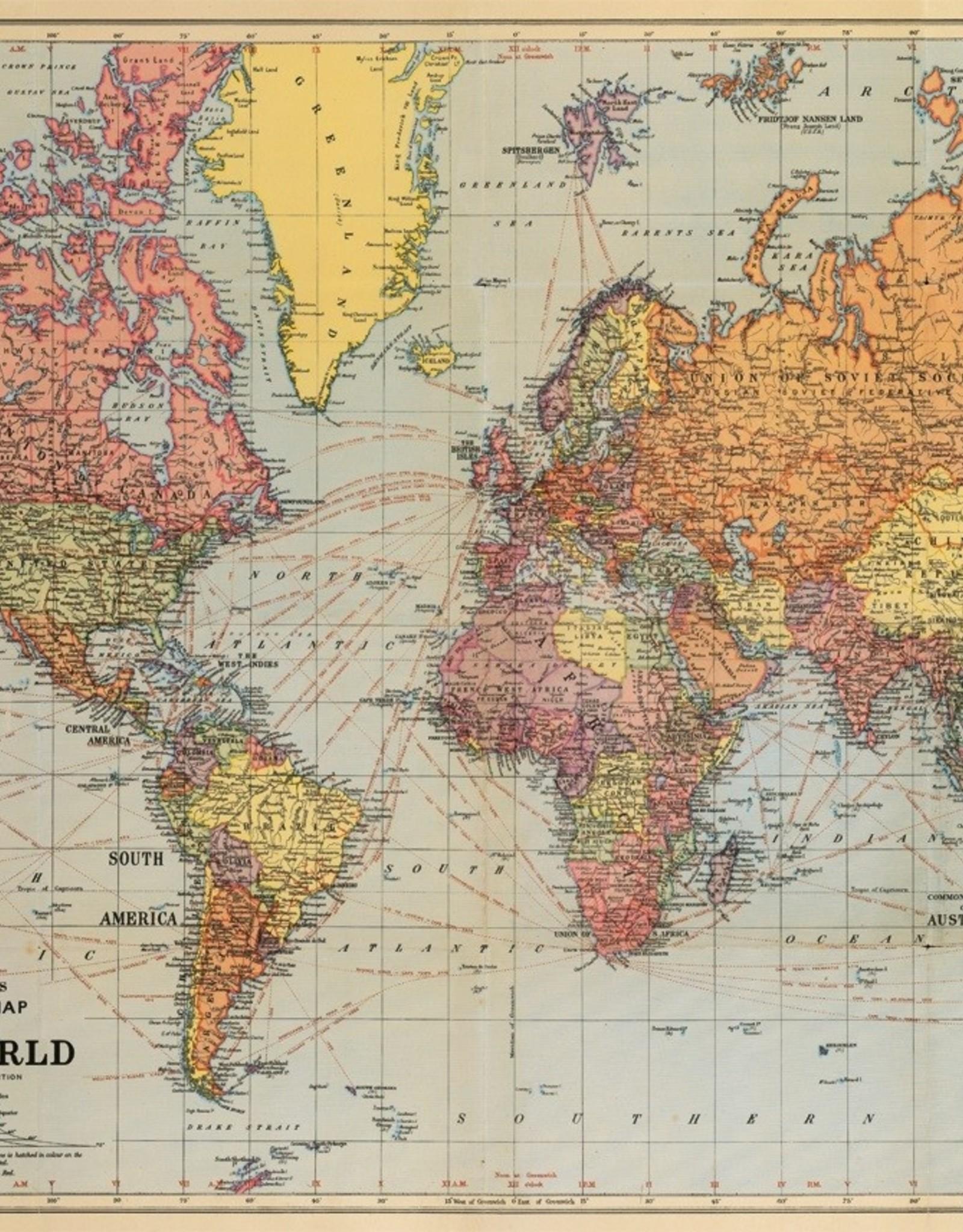 Cavallini Cavallini World map MAPWRD