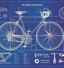 Cavallini Bicycle blueprint BICBP