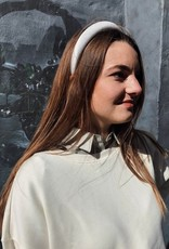 Make My Day Make My Day Headband Velvet White