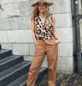 Never Fully Dressed Leopard Sleeveless Wrap Top