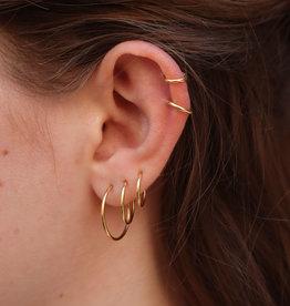 Make My Day Earring Basic Hoop