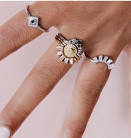 All the Luck in the World Ring Mag Crown Star/Clear Silver