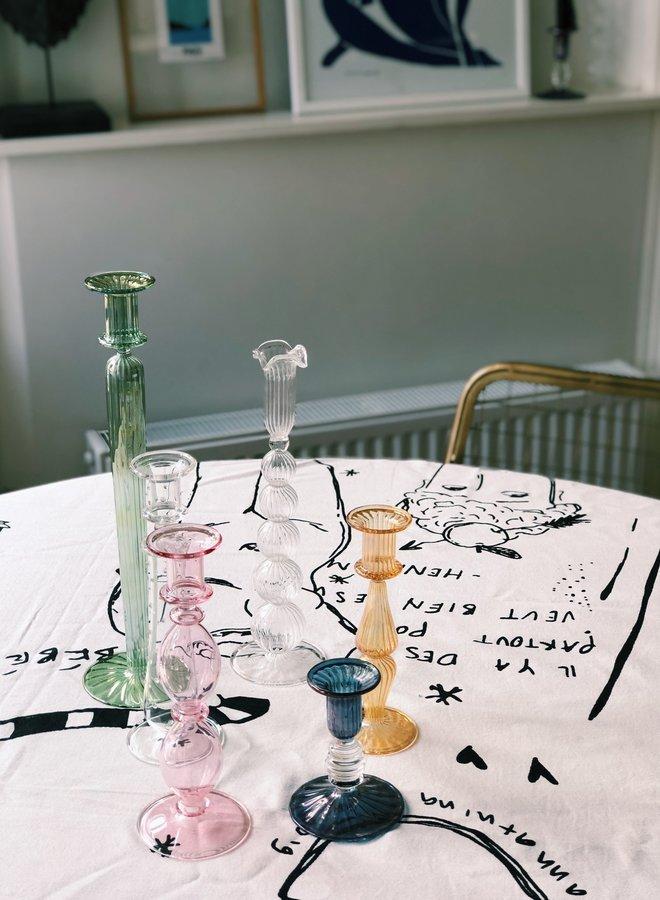 Anna+Nina Cloudy Glass Candle Holder
