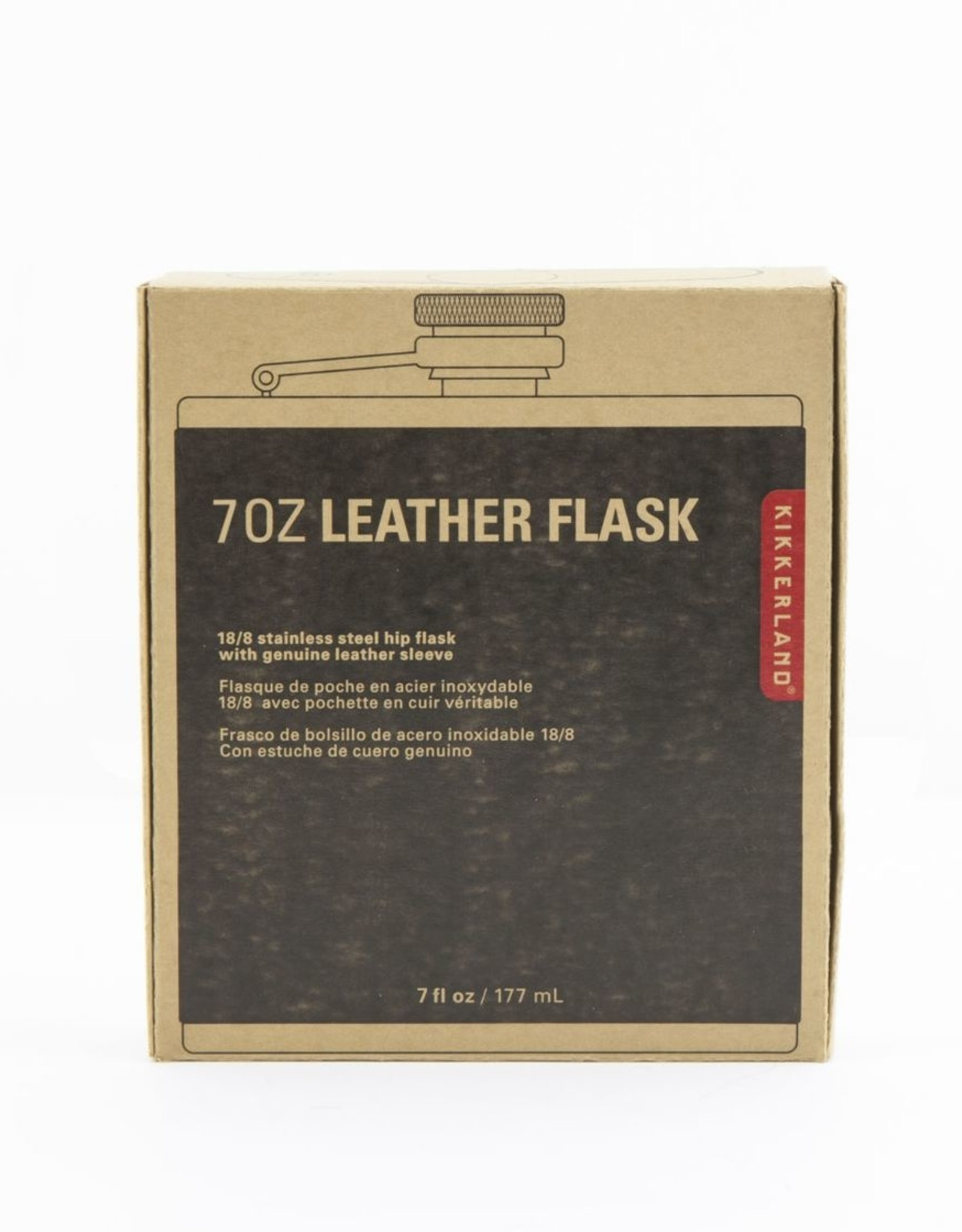 Kikkerland KL-Leather Hip Flask