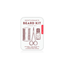 Kikkerland Gifts - Gentlemans Beard Tin