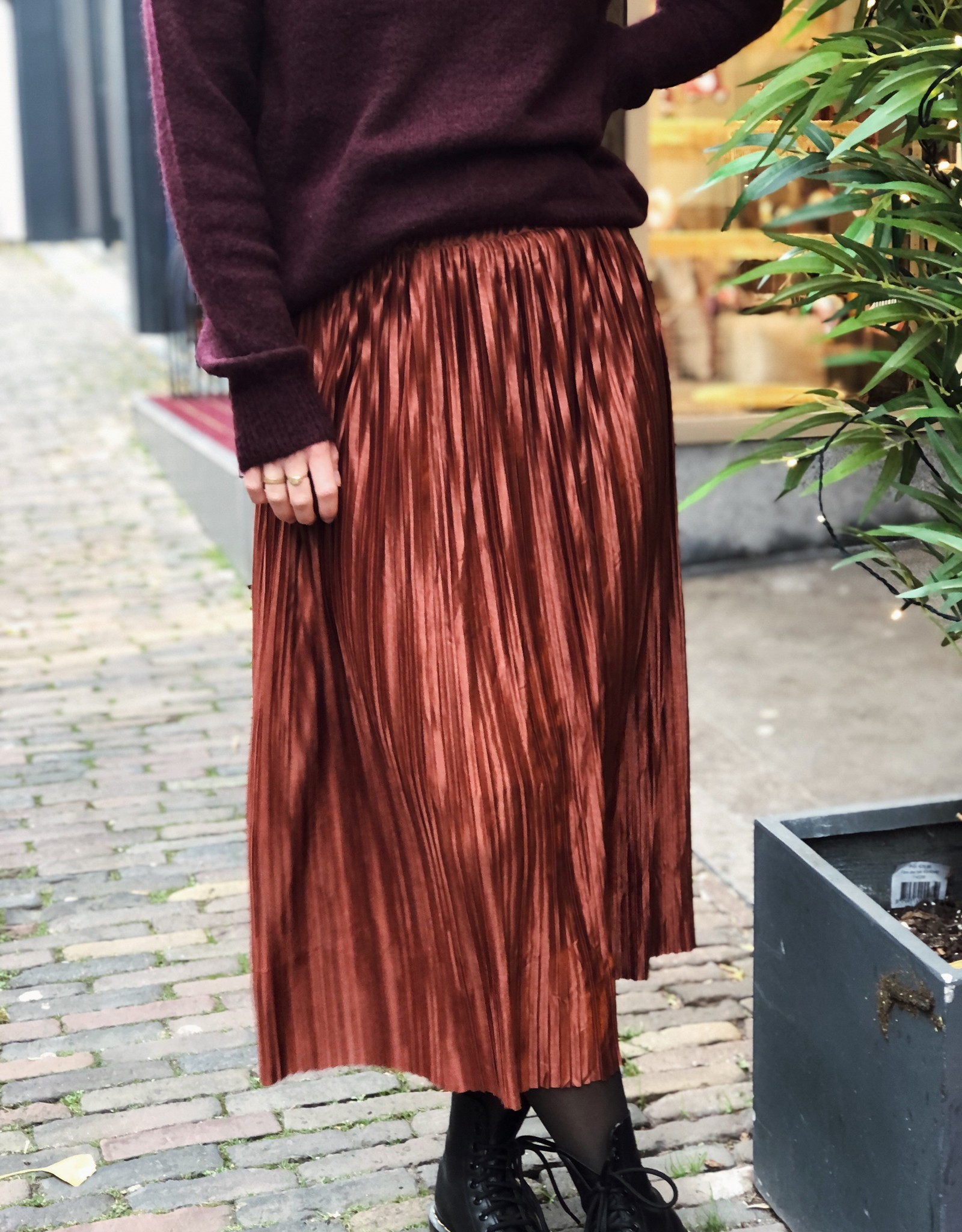 Make My Day AW20-8-MMD-Shiny Plisse skirt ( Meerdere kleuren)