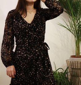 Make My Day MMD-Mini Wrap dress Longsleeve (Meerdere kleuren)