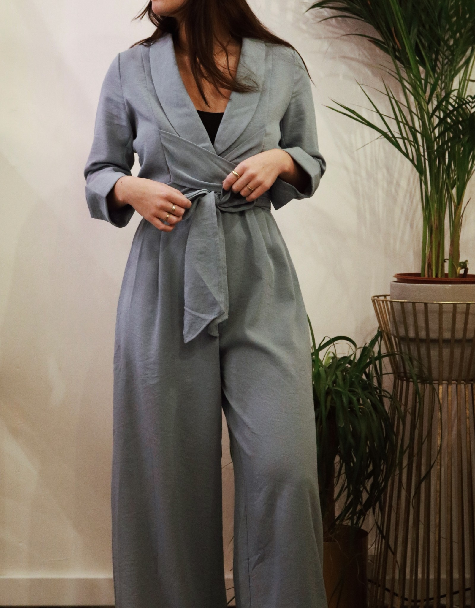 Make My Day AW20-8-MMD- Jumpsuit Wrap LS