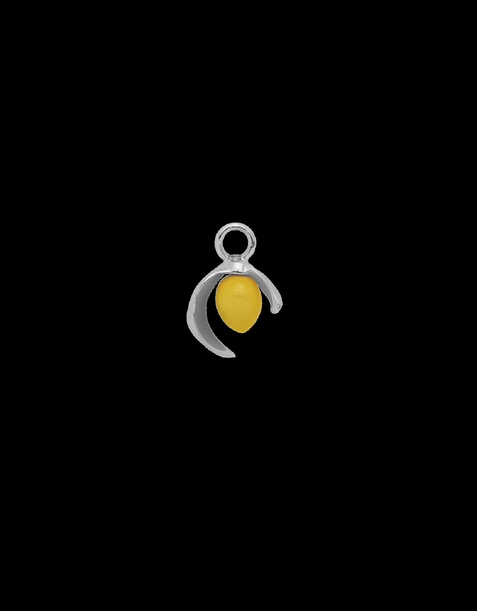 Anna+Nina Anna + Nina - Charm Earring Lemon (Per stuk)