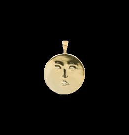 Anna+Nina Anna + Nina - Single Charm Necklace Lunar