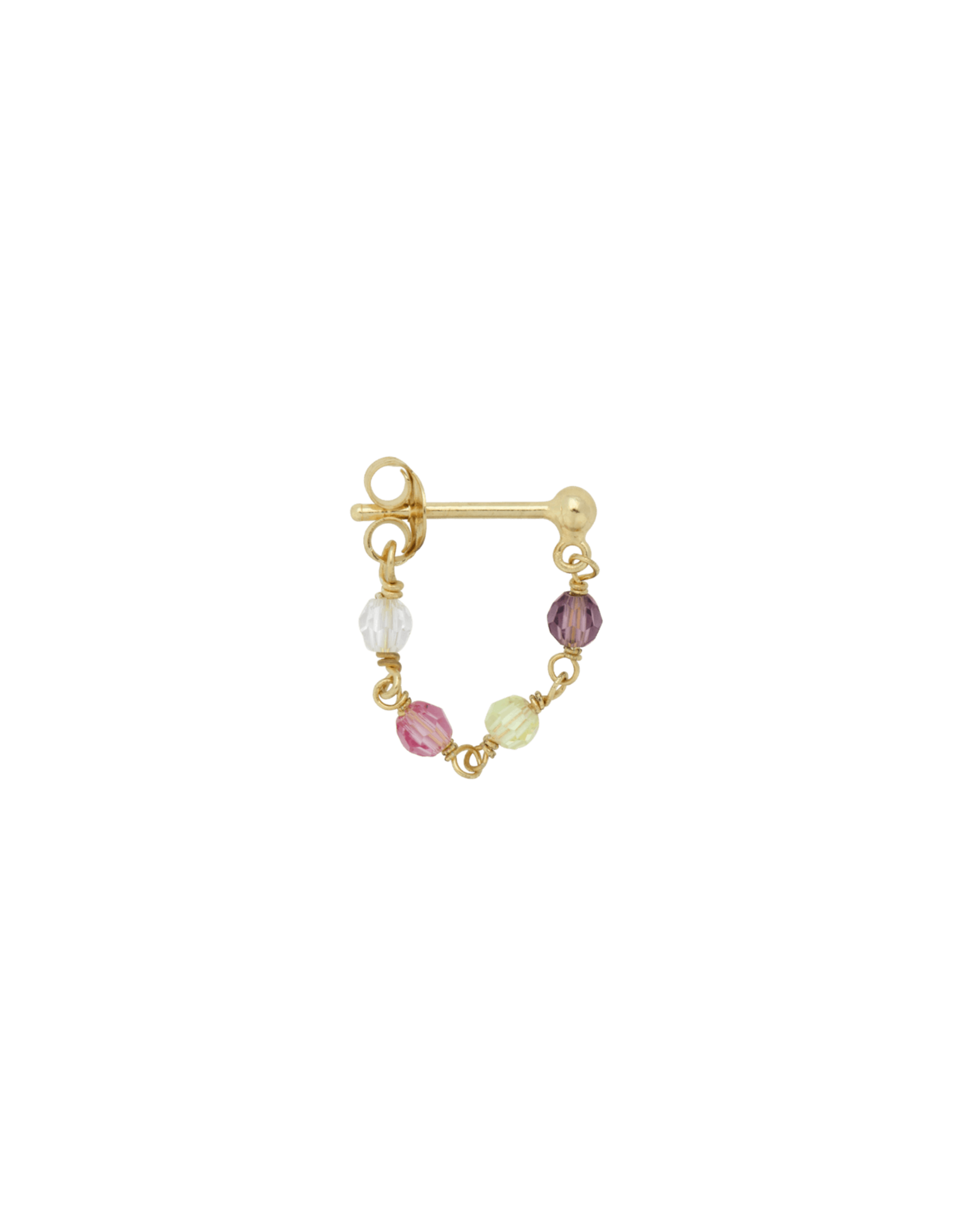 Anna+Nina Anna + Nina - Single Earring Confetti Chain (Per stuk)