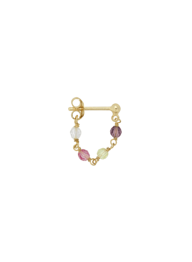 Anna + Nina - Single Earring Confetti Chain (Per stuk)