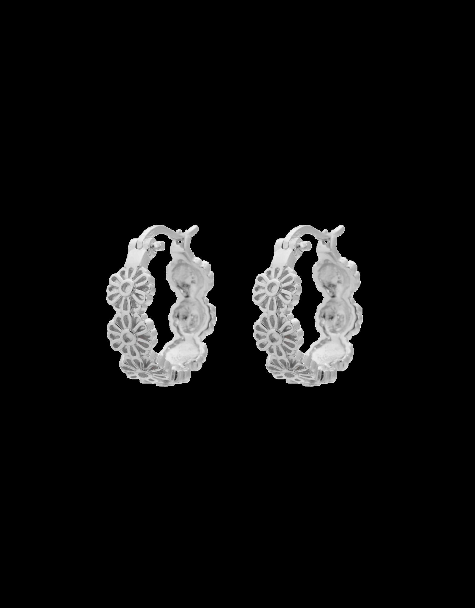Anna+Nina Anna + Nina - Single Earring Daisy Plain Ring (Per stuk)