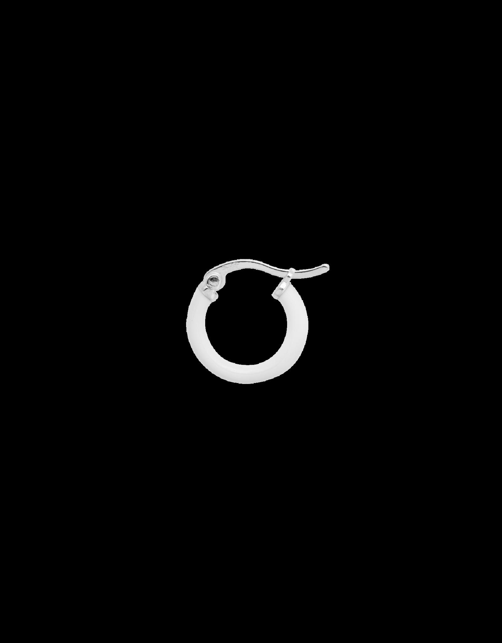 Anna+Nina Anna+Nina- Single Earring Enamel White (Per stuk)