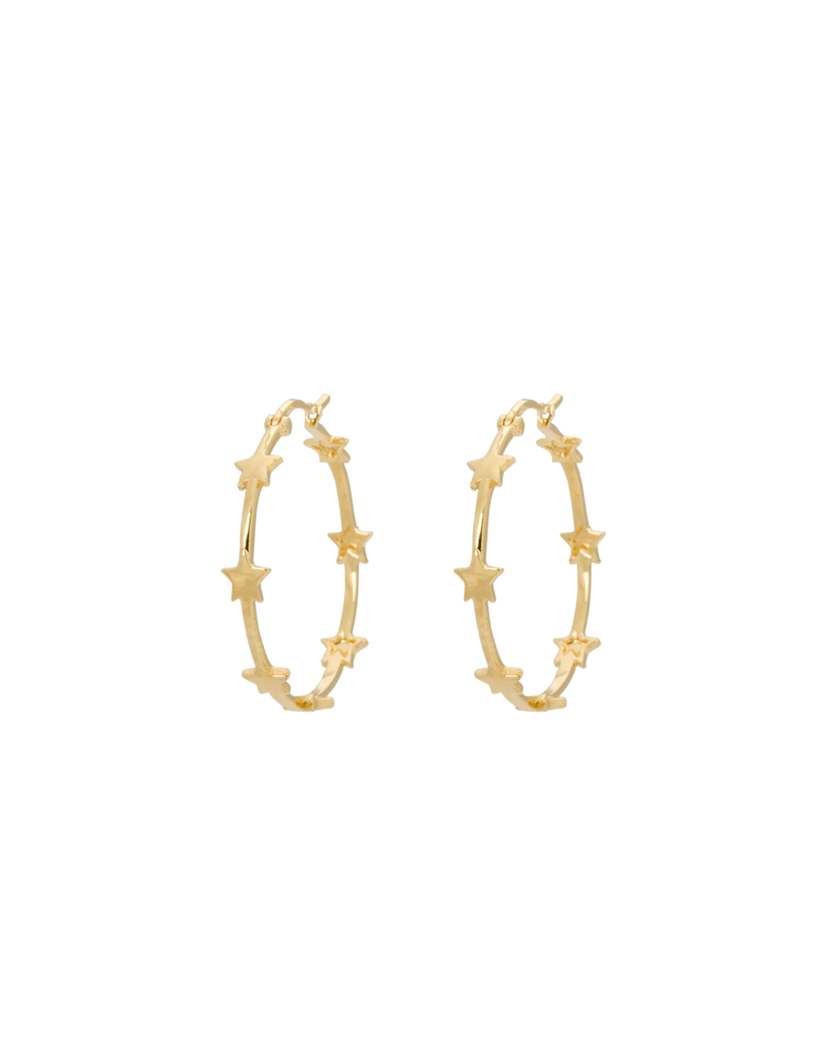 Anna+Nina Anna+Nina- Single Nova Hoop Earring (Per stuk)