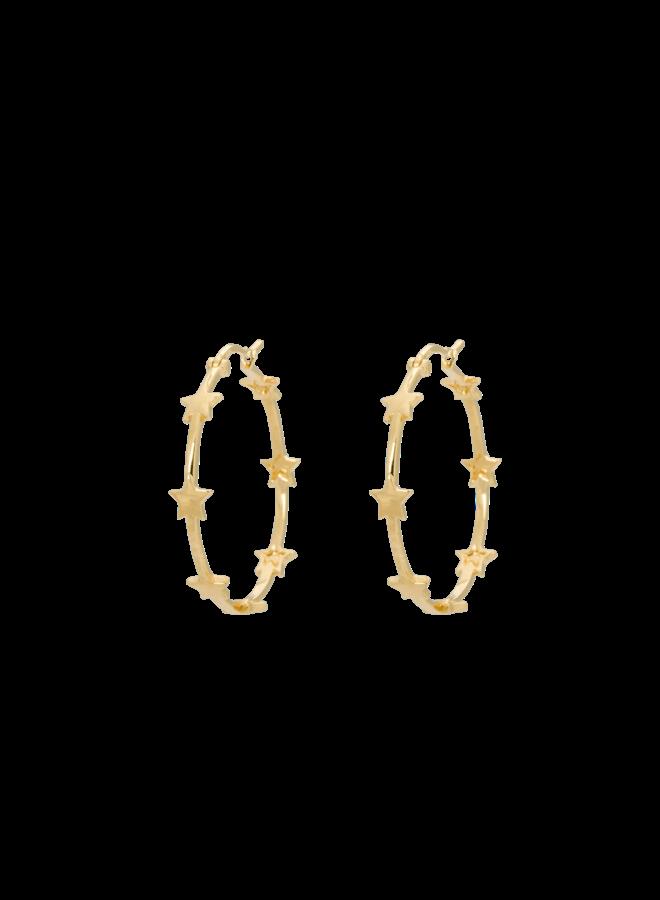 Anna+Nina- Single Nova Hoop Earring (Per stuk)