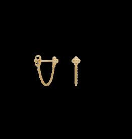 Anna+Nina Anna+Nina-Single Blossom Chain Stud (Per stuk)