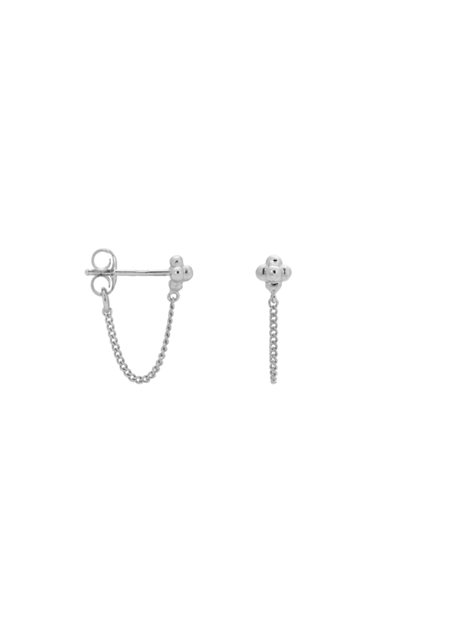 Anna+Nina Single Blossom Chain Stud