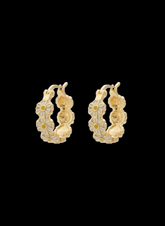 Anna+Nina Daisy Coloured Ring Earrings