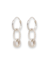Anna+Nina Anna+Nina-Single Rope Multi Ring Earring (Per stuk)