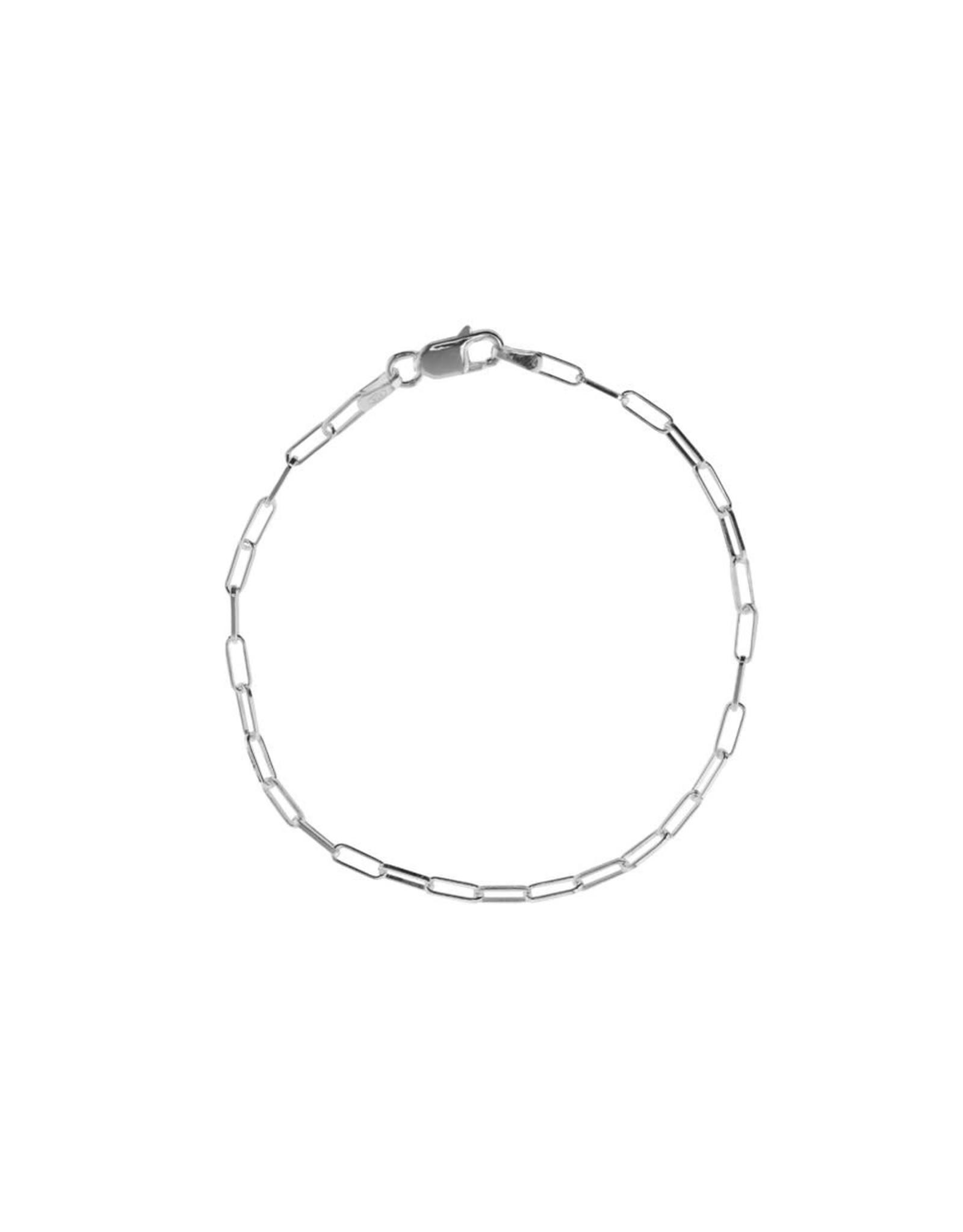 Xzota Xzota- Bracelet Chain Square Silver