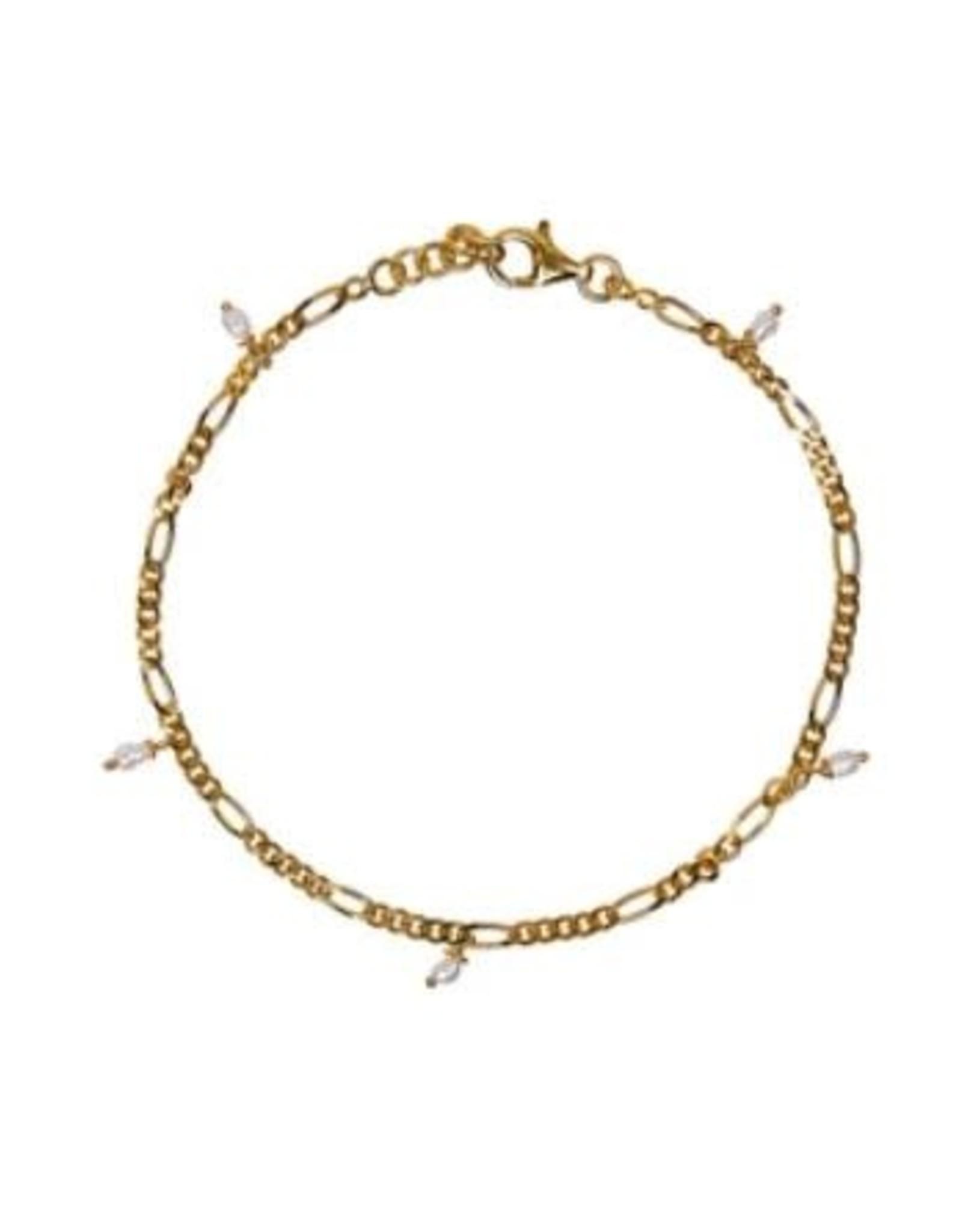 Xzota Xzota- Bracelet Figaro Small Pearl
