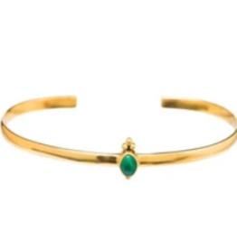 Xzota Xzota- Cuff green stone dots