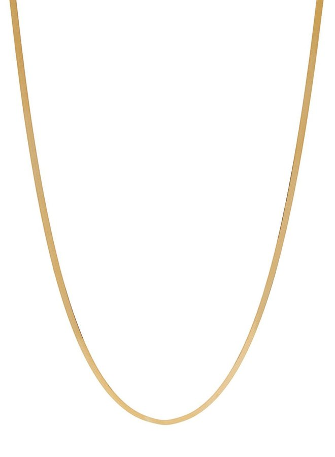 NOS-Xzota-Necklace Flat Snake Gold