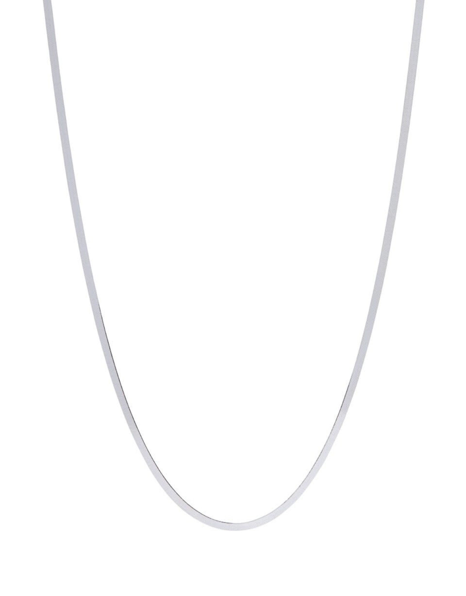 Xzota Xzota- Necklace Flat Snake Silver