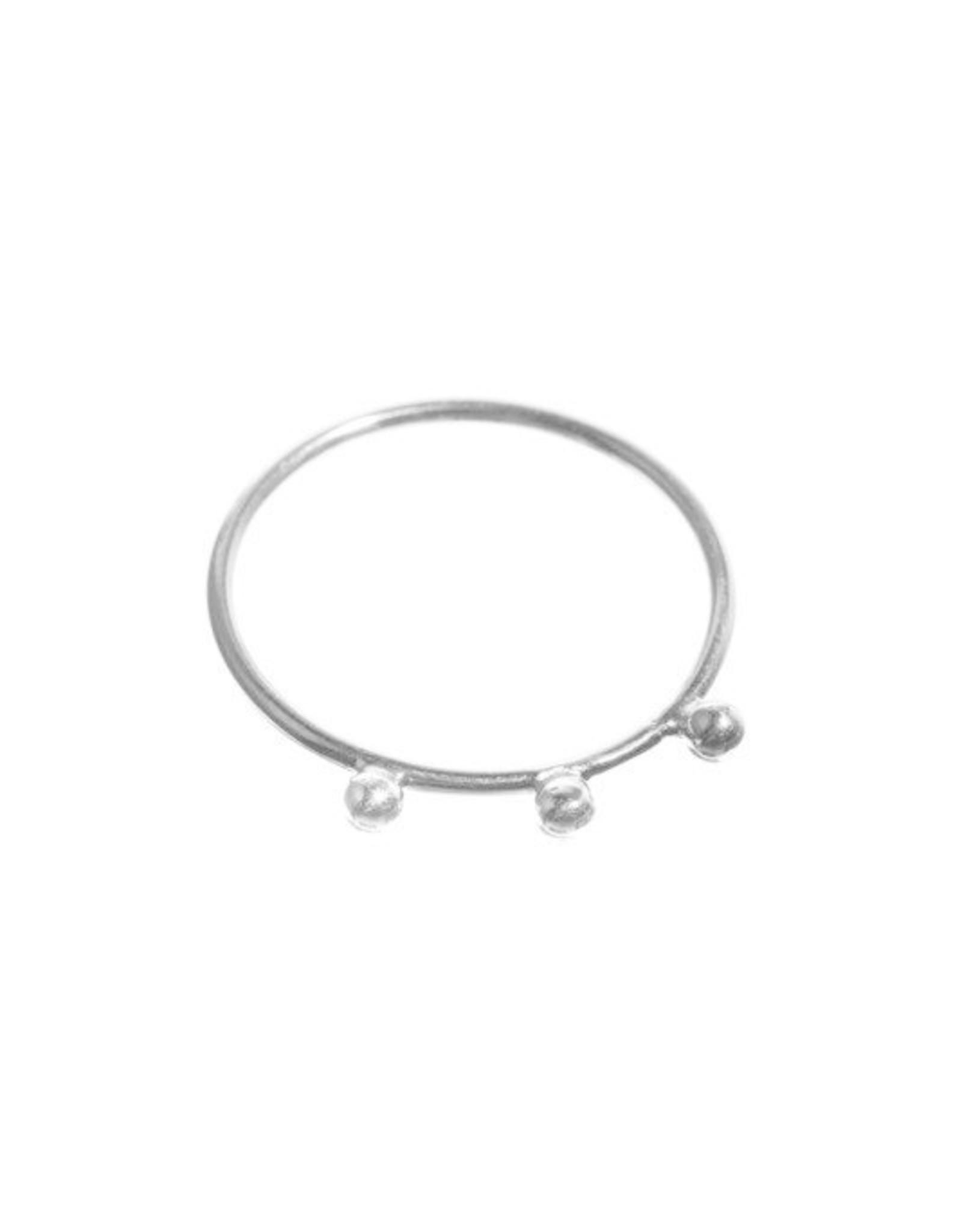 Xzota Xzota- Ring 3 dots Silver