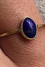 Xzota Xzota- Ring Lapis azulli oval Brass