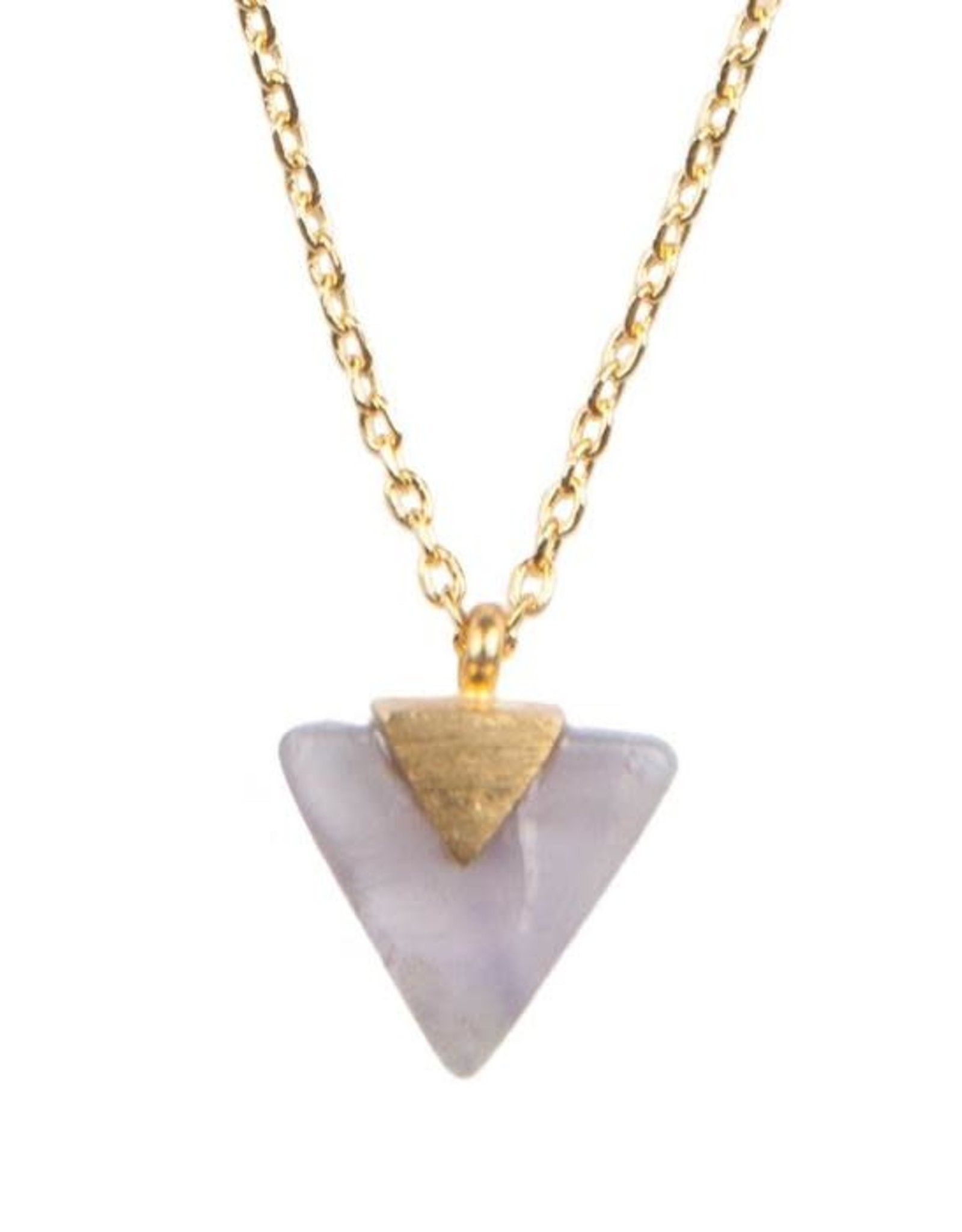 All the Luck in the World ATL- Necklace Galaxy Pastel Purple Triangle