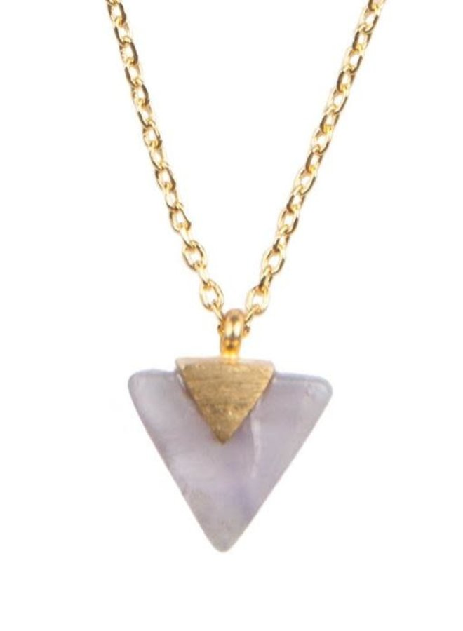 All the Luck in the World- Necklace Galaxy Pastel Purple Triangle
