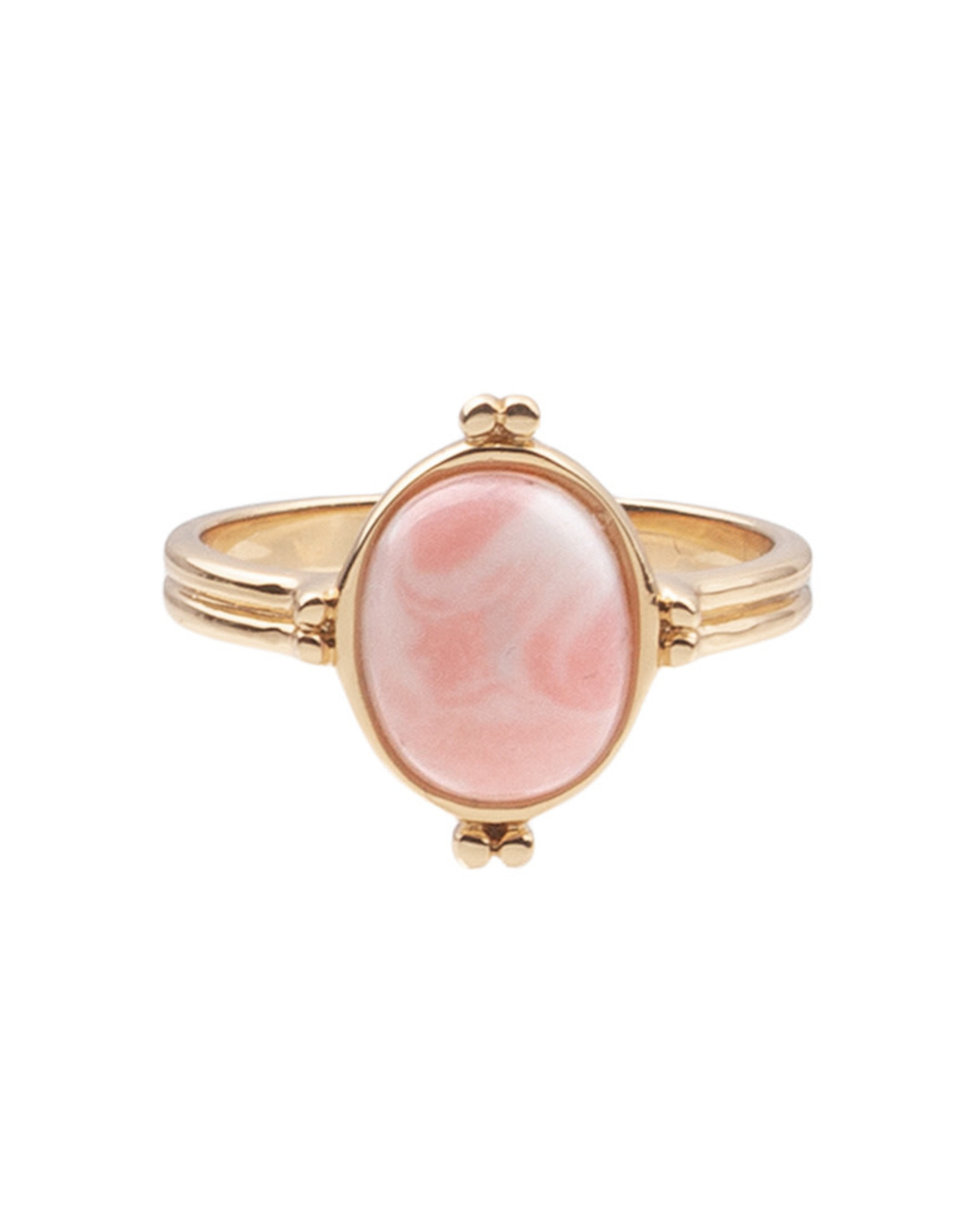 All the Luck in the World ATL- Ring Cherie Oval Marble Light Pink