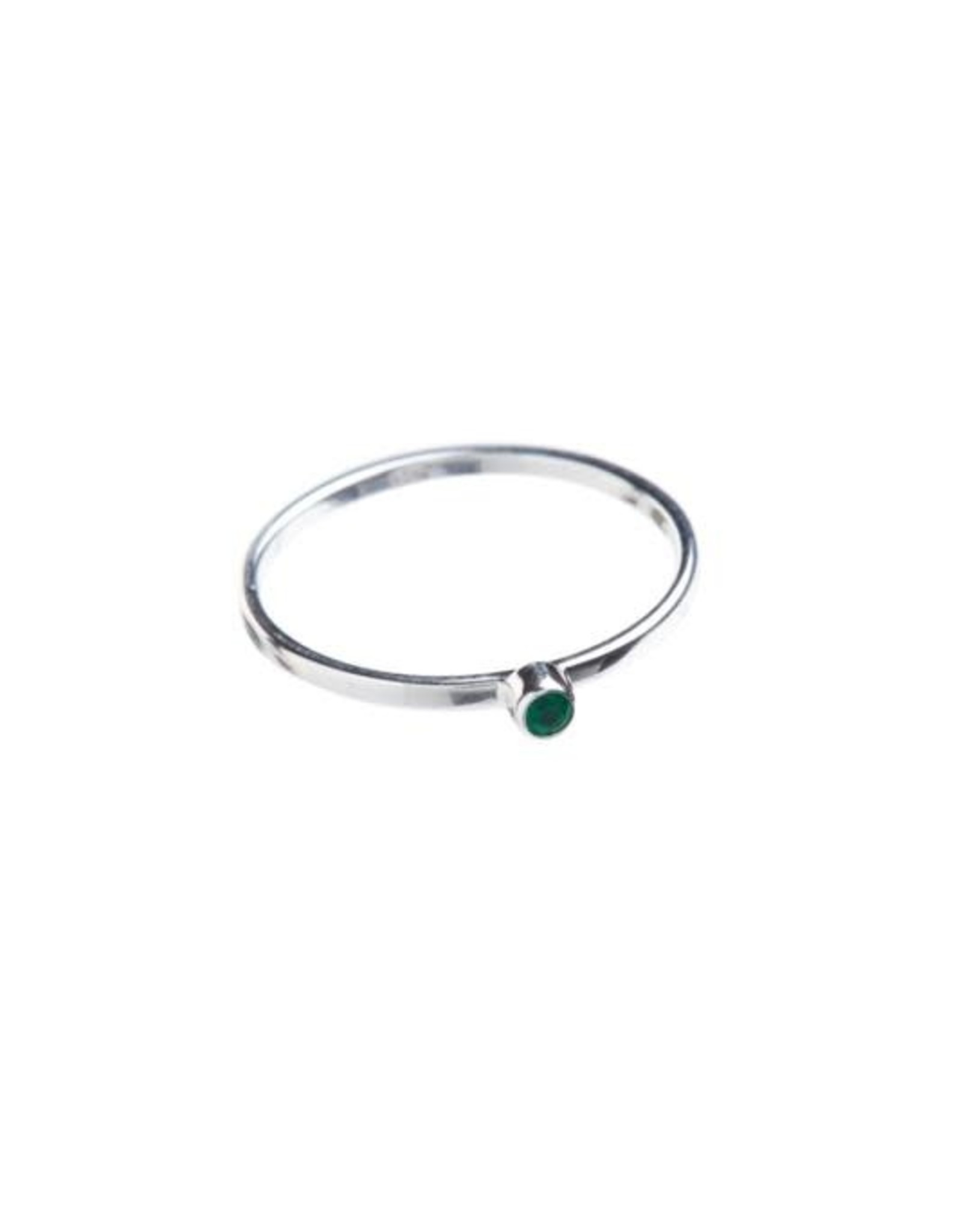 Xzota Xzota- Ring Small Green onyx Silver