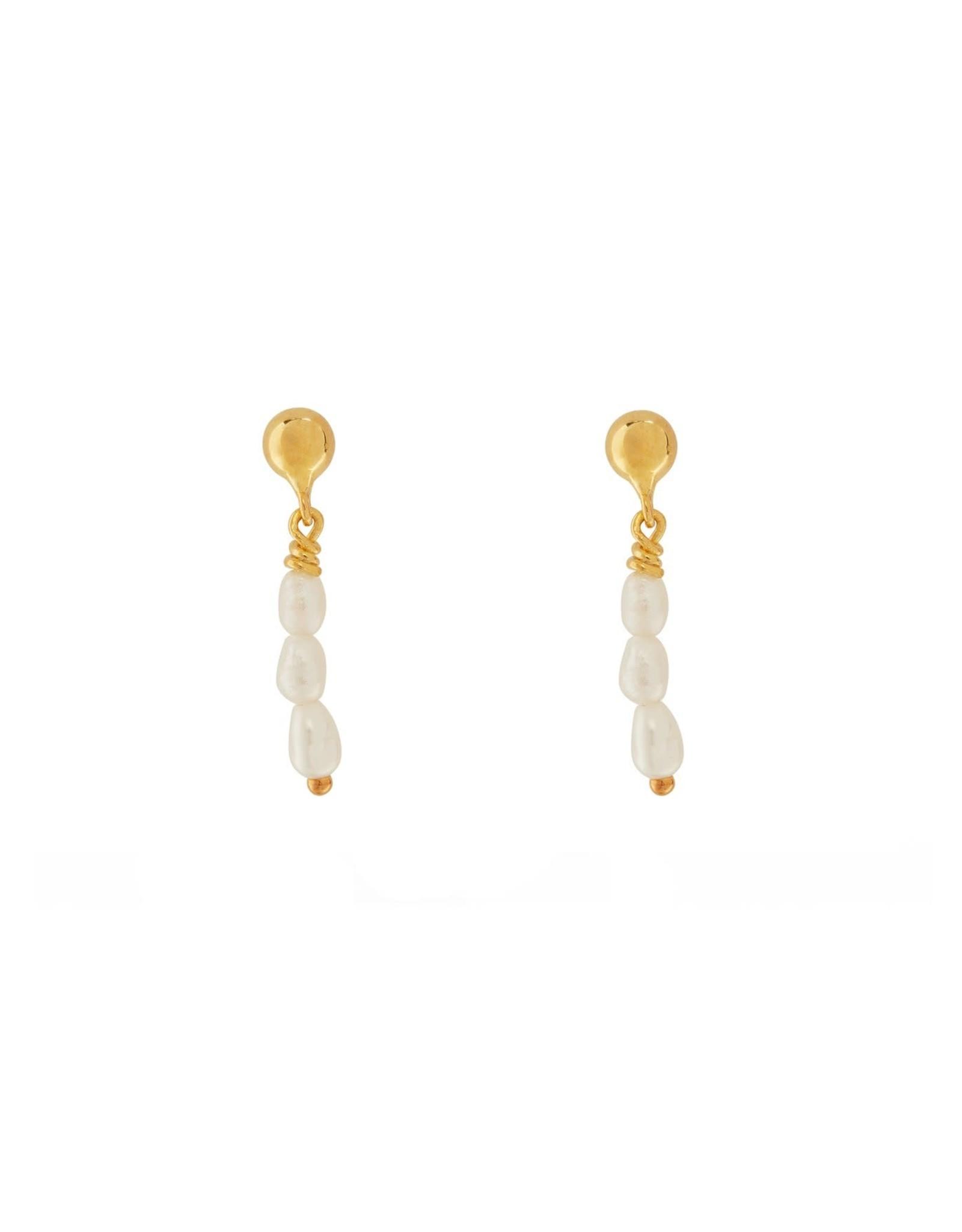 Xzota Xzota- Single Earring Multi Pearls(Per Stuk)