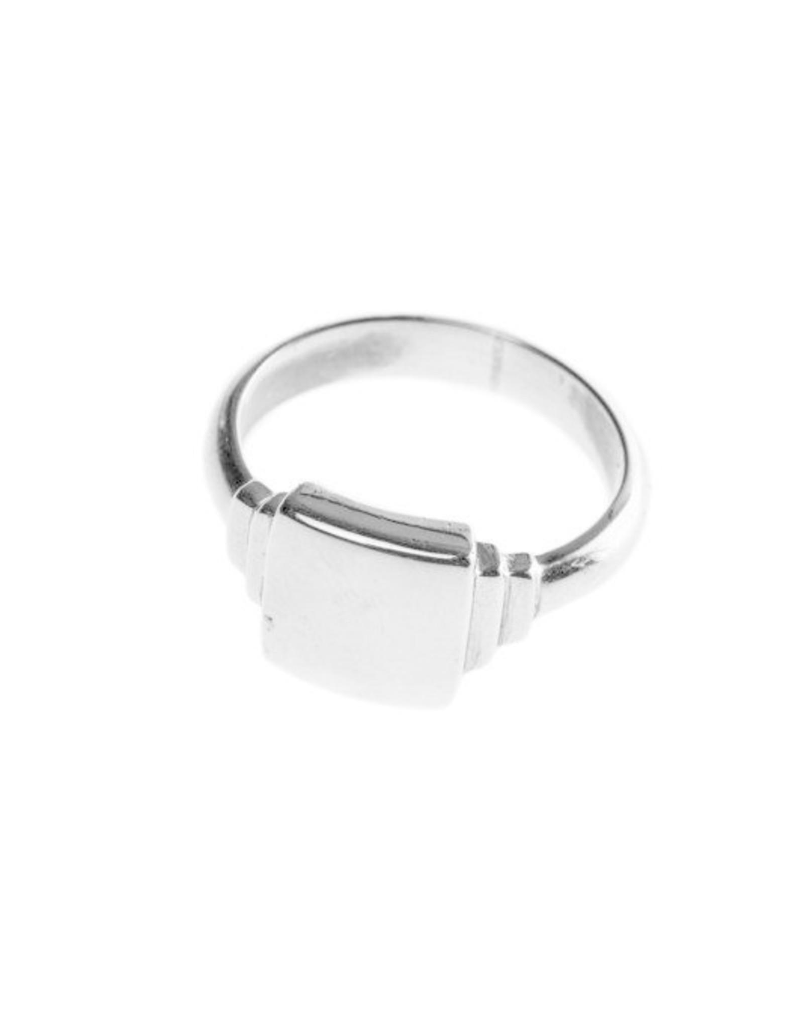 Xzota Xzota- Signet square ring Silver