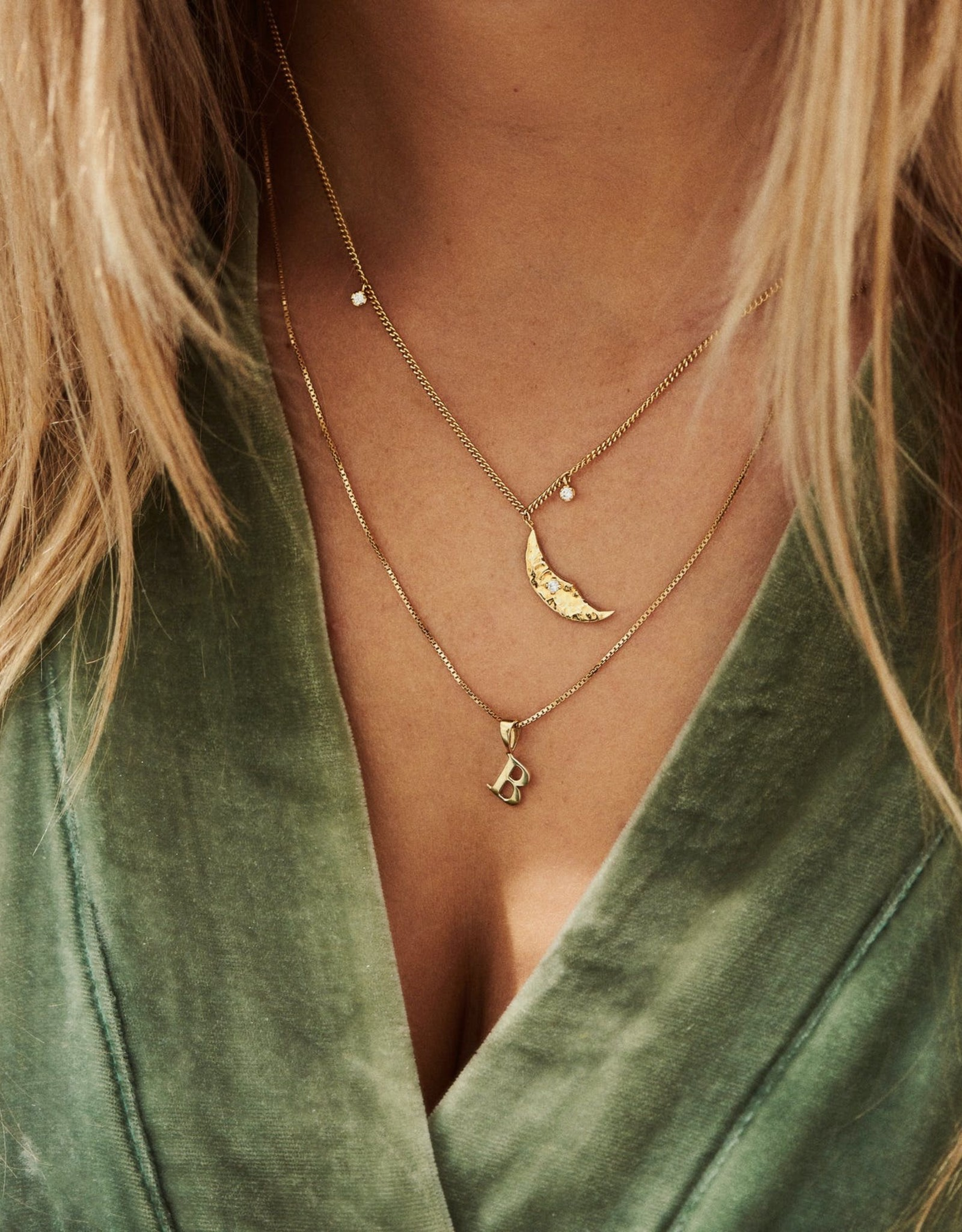 Anna+Nina A+N- Initial Necklace Charm