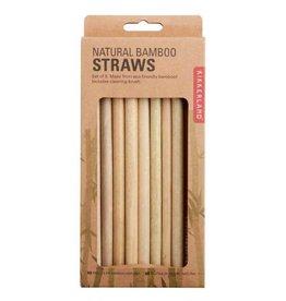 Kikkerland Straws - Natural Bamboo