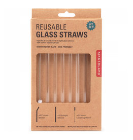 Kikkerland Straws - Clear Glass