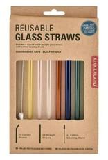 Kikkerland KL-Colorful Glass Straws S/6