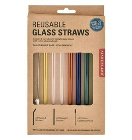 Kikkerland Straws - Colorful Glass