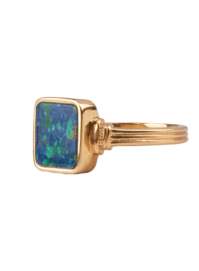 All the Luck in the World - Ring Chérie Square Blue