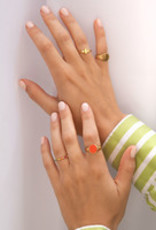 All the Luck in the World ATL-Ring Chérie Signet Oval Orange