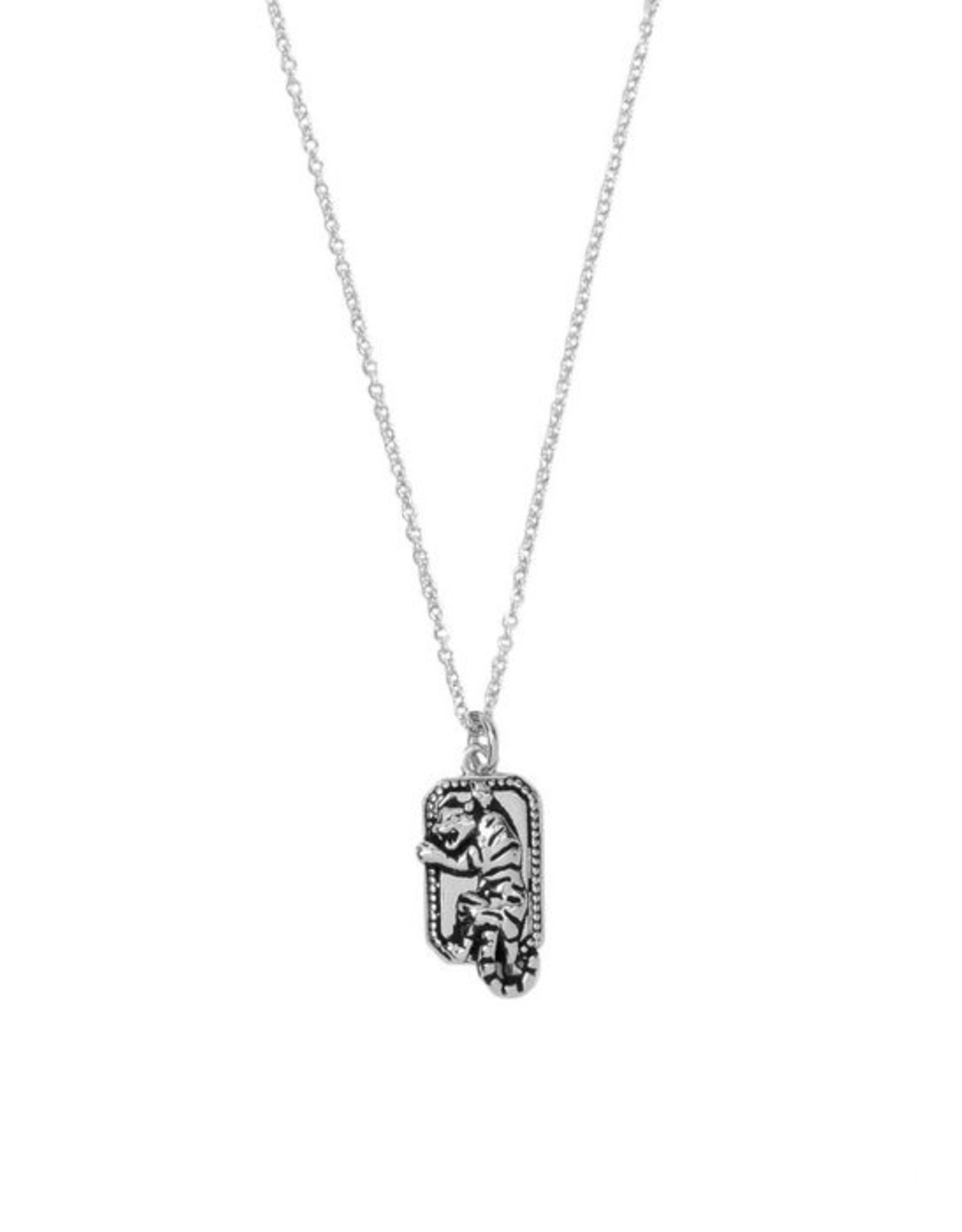 All the Luck in the World ATL-Necklace Charm Tiger Rectangle