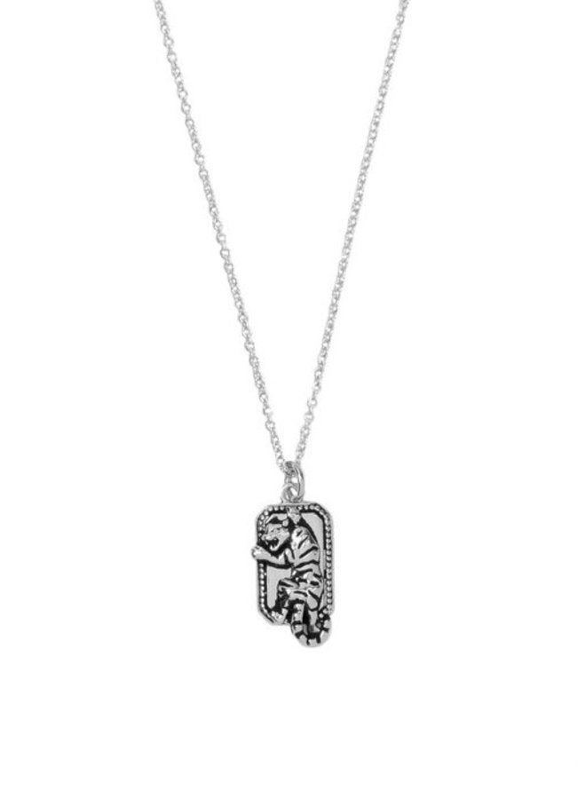 All the Luck in the World - Necklace Charm Tiger Rectangle