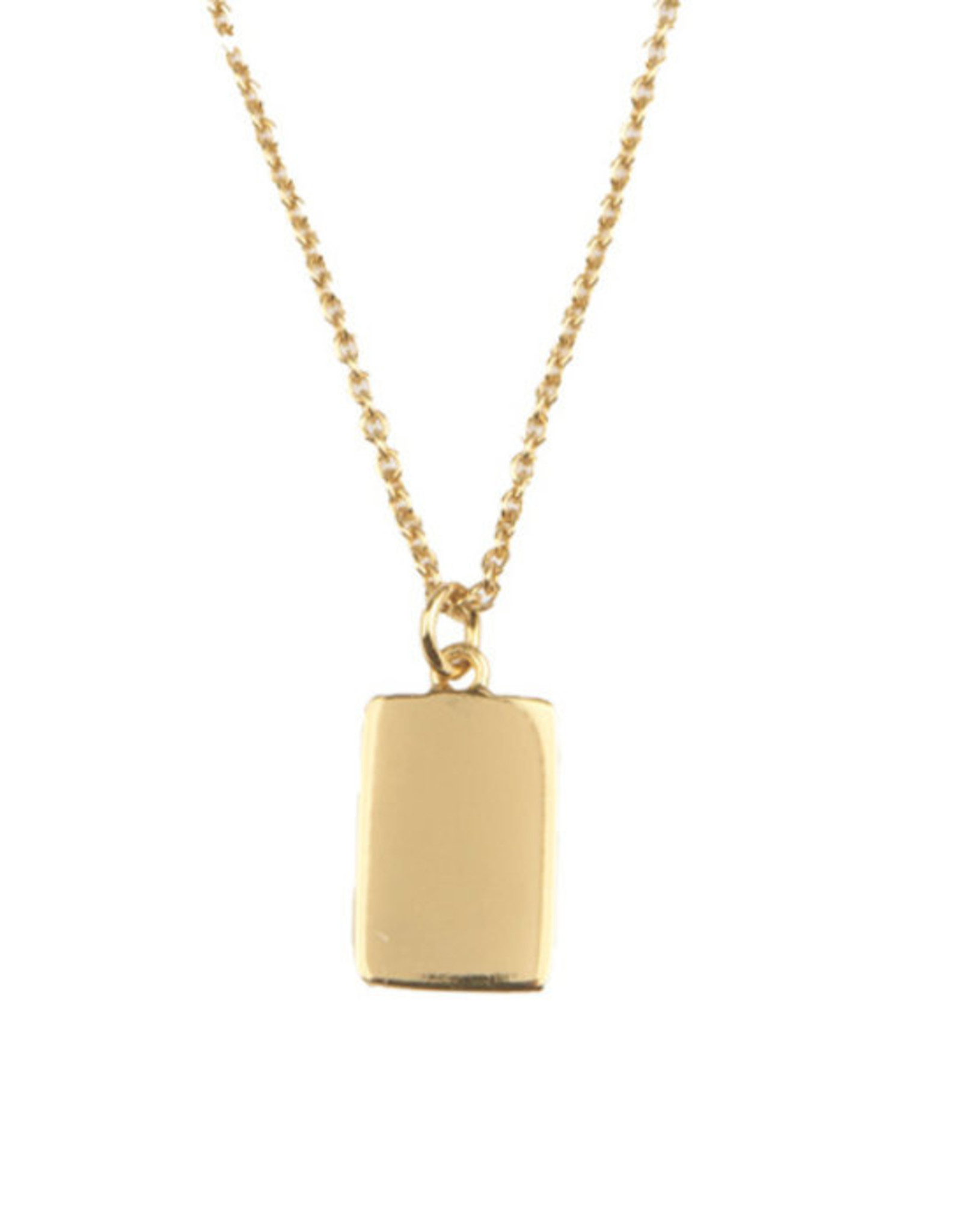 All the Luck in the World ATL- Necklace Charm Rectangle