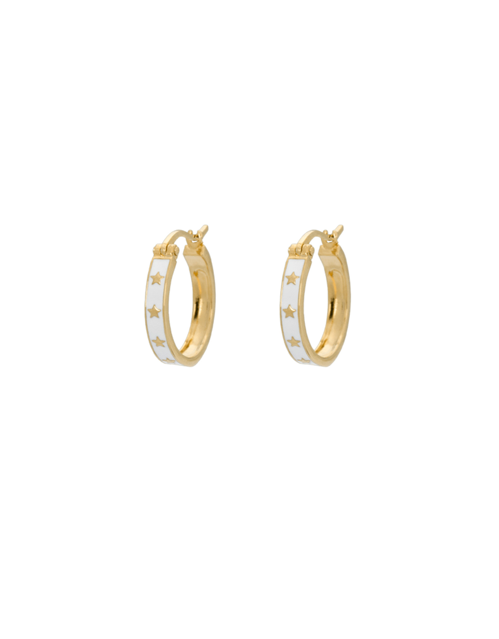 Anna+Nina Anna+Nina-Single Midnight Ring Earring (Per stuk)