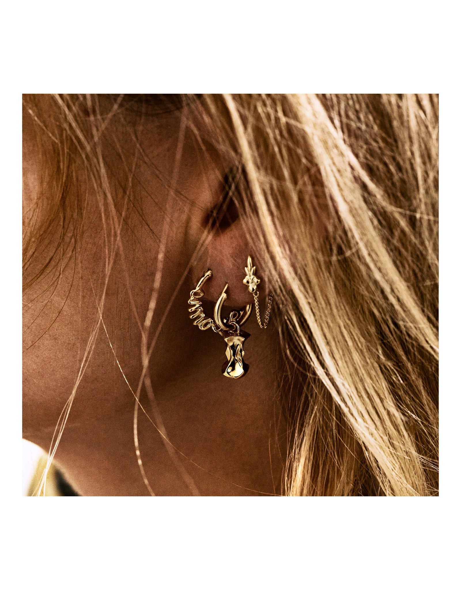 Anna+Nina Anna+Nina-Single Eden Chain Earring (Per stuk)