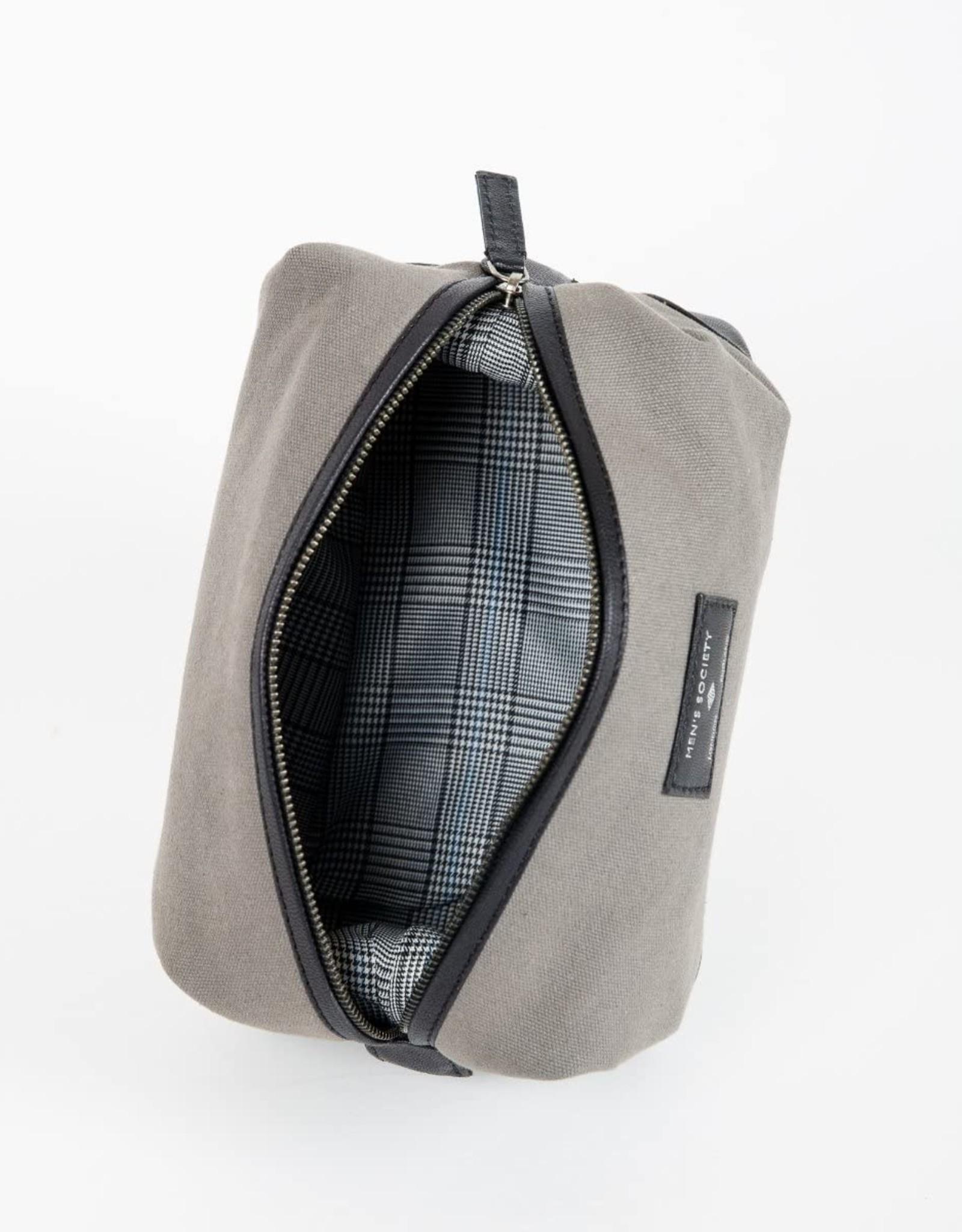Men's Society Men's Society-Leather Washbag
